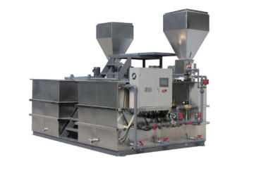 Dry powder polymer preparation system
