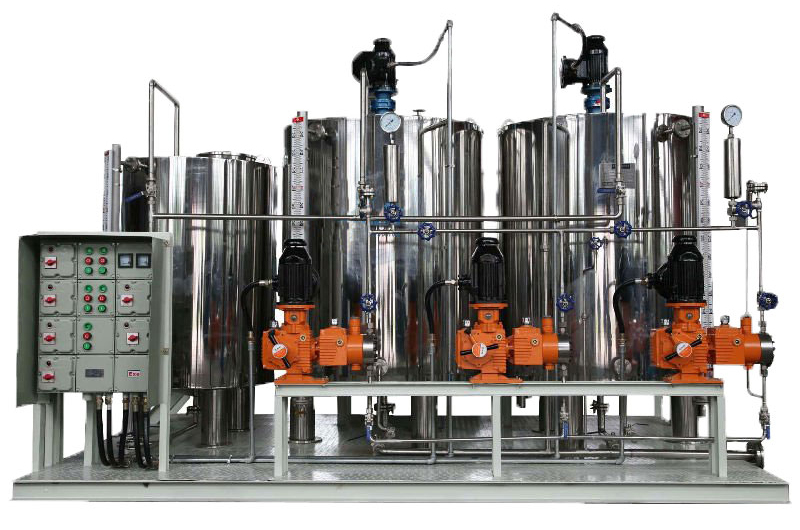 full stainless steel chemical injection skid