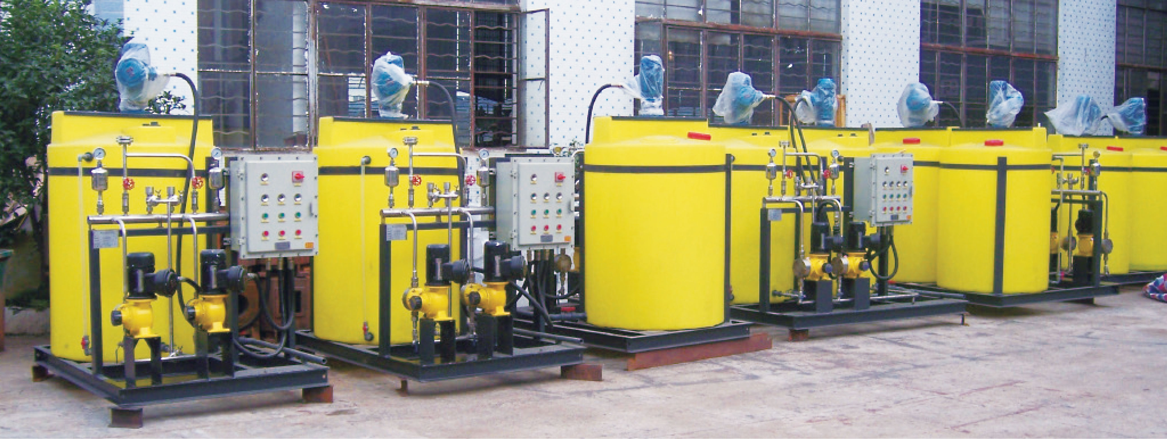 pH adjustment system for waste water treatment plant